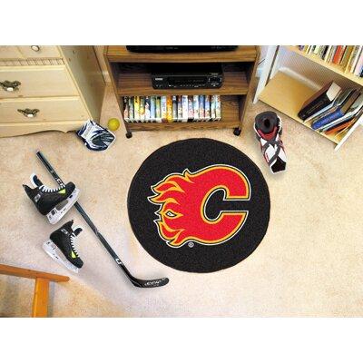 NHL - Calgary Flames Puck Doormat