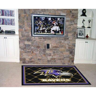 NFL - Baltimore Ravens 4x6 Rug Rug Size: 4 x 6