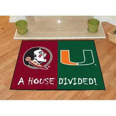 NCAA House Divided: Florida State / Miami  House Divided Mat