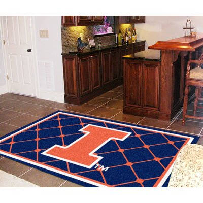 NCAA University of Illinois Rug Rug Size: 310 x 6