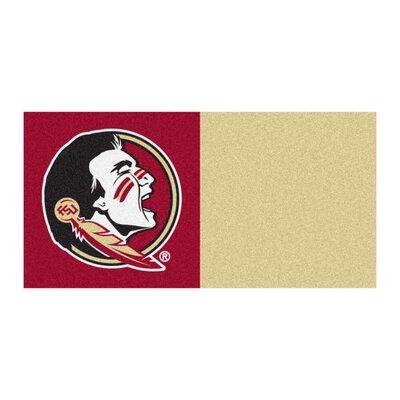 Collegiate 18 x 18 Carpet Tiles in Multi-Colored NCAA Team: Florida State - Seminole