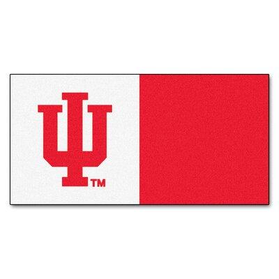 Collegiate 18 x 18 Carpet Tiles in Multi-Colored NCAA Team: Indiana