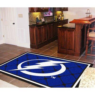 NHL - Tampa Bay Lightning 5x8 Doormat Mat Size: 310 x 6