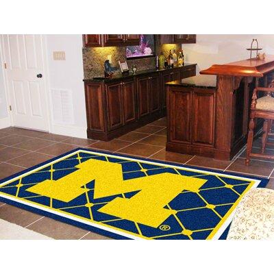 NCAA University of Michigan Rug Rug Size: 310 x 6