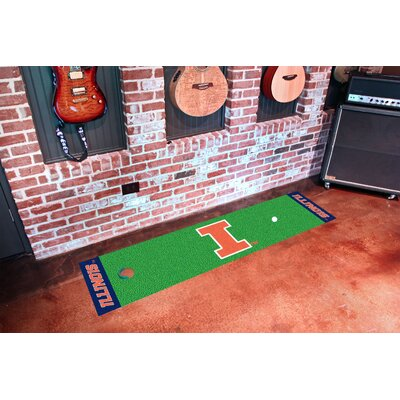 NCAA University of Illinois Putting Green Doormat