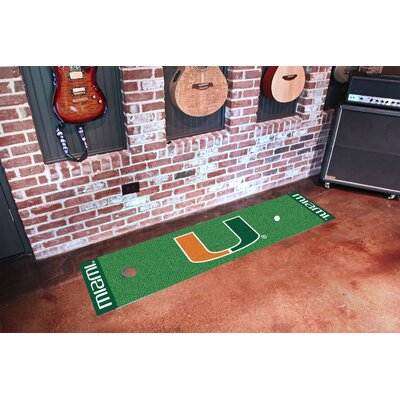 NCAA University of Miami Putting Green Doormat