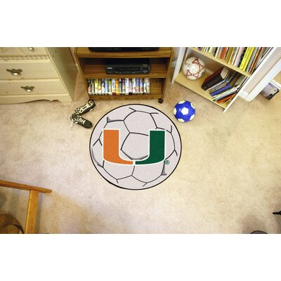NCAA University of Miami Soccer Ball