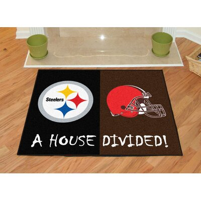 NFL House Divided - Steelers / Browns House Divided Mat