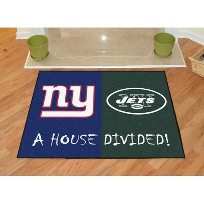 NFL House Divided - Giants / Jets House Divided Mat