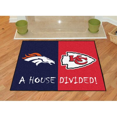 NFL House Divided - Broncos / Chiefs House Divided Mat