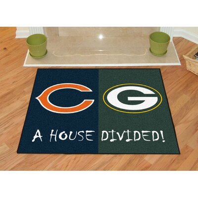 NFL House Divided - Bears / Packers House Divided Mat