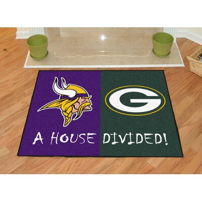 NFL House Divided - Vikings / Packers House Divided Mat