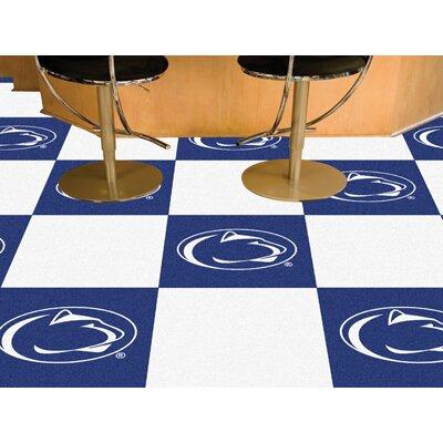Collegiate 18 x 18 Carpet Tiles in Multi-Colored NCAA Team: Penn State