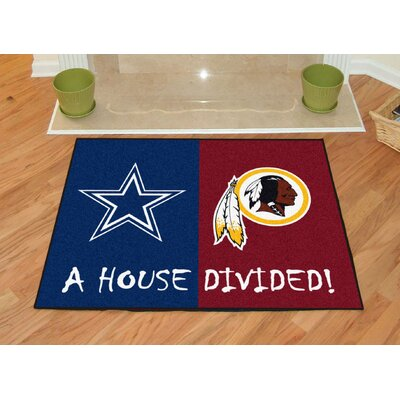 NFL House Divided - Cowboys / Redskins House Divided Mat