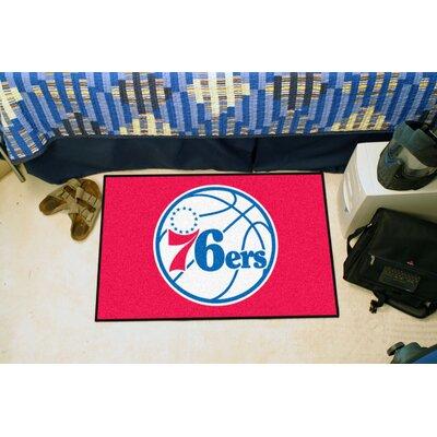 NBA - Philadelphia 76ers Doormat Mat Size: 5 x 8