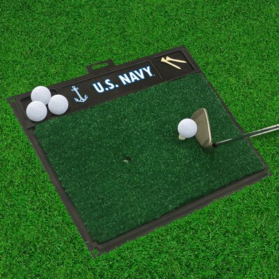 MIL U.S. Air Force Golf Hitting Doormat Military Branch: Navy