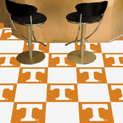 Collegiate 18 x 18 Carpet Tiles in Multi-Colored NCAA Team: Tennessee