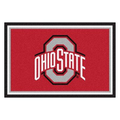 NCAA Ohio State University Indoor/Outdoor Area Rug Rug Size: 5 x 78