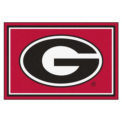 NCAA University of Georgia Rug Rug Size: 5 x 78