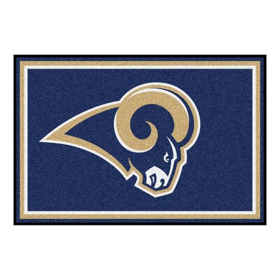 NFL - Los Angeles Rams 4x6 Rug Rug Size: 5 x 8