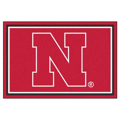 NCAA University of Nebraska Rug Rug Size: 310 x 6
