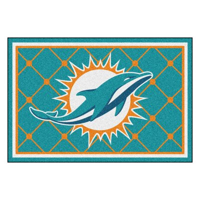 NFL - Miami Dolphins 4x6 Rug Mat Size: 5 x 8
