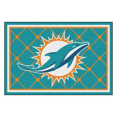 NFL - Miami Dolphins 4x6 Rug Rug Size: 5 x 8