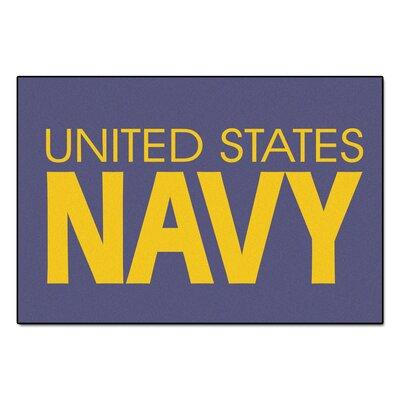 MIL U.S. Navy Doormat Mat Size: 5 x 8