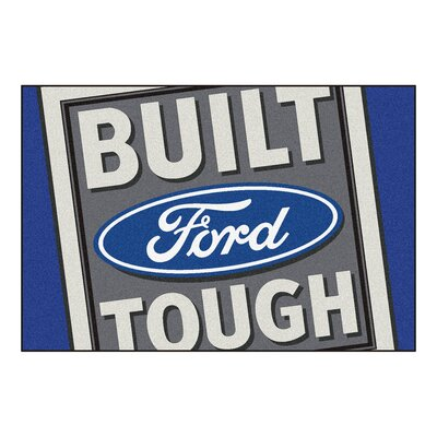 Ford - Built Ford Tough Tailgater Mat Rug Size: 5 x 8