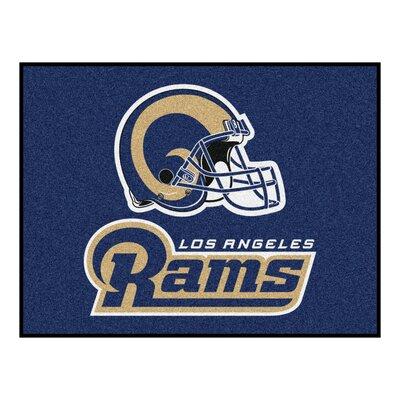 NFL - Los Angeles Rams Starter Doormat Rug Size: 210 x 38.5