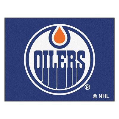 NHL - Edmonton Oilers Doormat Mat Size: 210 x 38.5