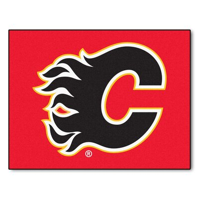NHL - Calgary Flames Doormat Rug Size: 210 x 38.5