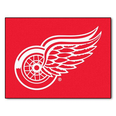 NHL - Detroit Red Wings Doormat Rug Size: 210 x 37