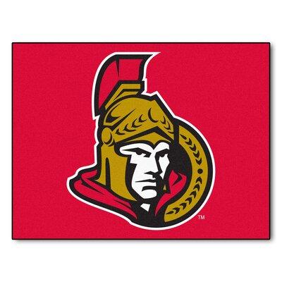 NHL - Ottawa Senators Doormat Rug Size: 210 x 37