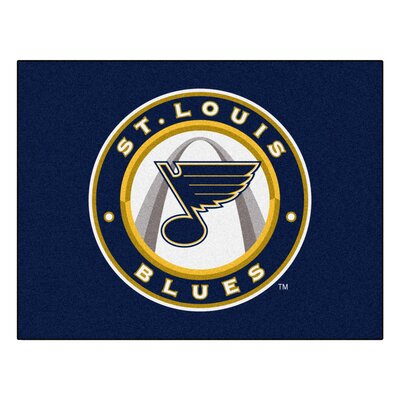 NHL - St. Louis Blues Doormat Rug Size: 210 x 38.5