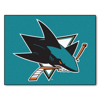 NHL - San Jose Sharks Doormat Rug Size: 210 x 38.5