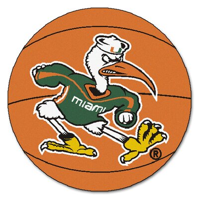 NCAA University of Miami Basketball Mat
