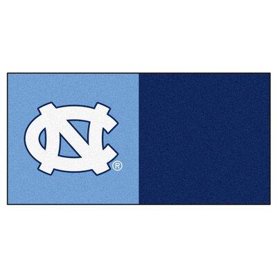Collegiate 18 x 18 Carpet Tiles in Multi-Colored NCAA Team: North Carolina