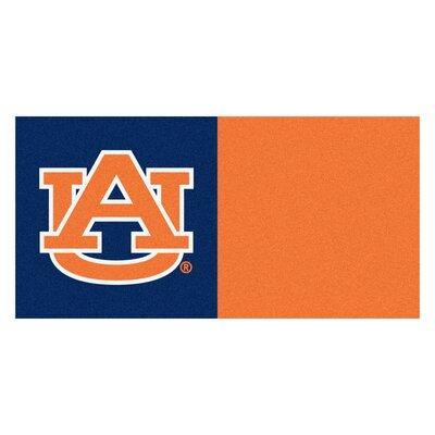 Collegiate 18 x 18 Carpet Tiles in Multi-Colored NCAA Team: Auburn