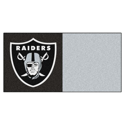 NFL Team 18 x 18 Carpet Tile NFL Team: Oakland Raiders