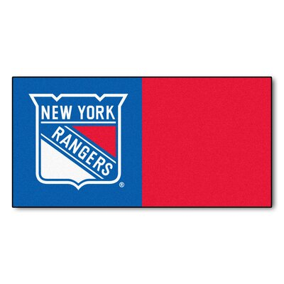 NHL - Chicago Blackhawks Team Carpet Tiles NHL Team: New York Rangers