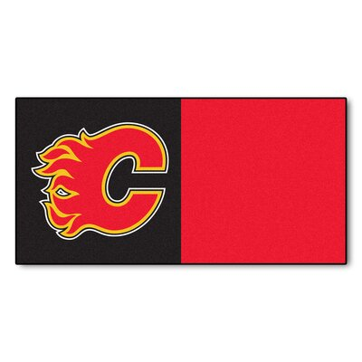 NHL - Chicago Blackhawks Team Carpet Tiles NHL Team: Calgary Flames
