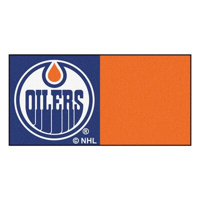 NHL - Chicago Blackhawks Team Carpet Tiles NHL Team: Edmonton Oilers