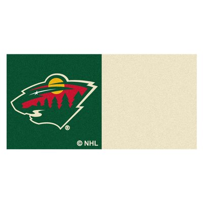 NHL - Chicago Blackhawks Team Carpet Tiles NHL Team: Minnesota Wild