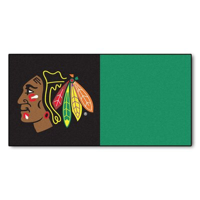 NHL - Chicago Blackhawks Team Carpet Tiles NHL Team: Chicago Blackhawks