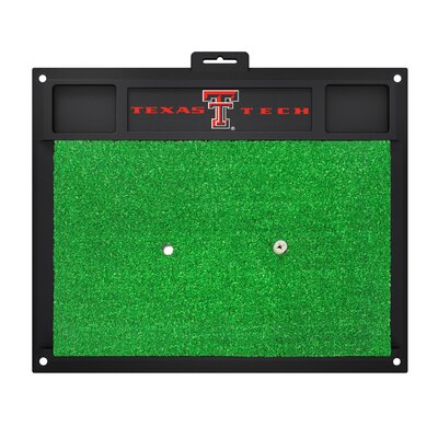 NCAA Texas Tech University Golf Hitting Mat