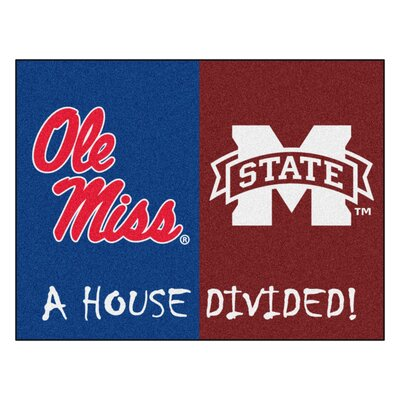 NCAA House Divided: University of Mississippi / Mississippi State House Divided Mat