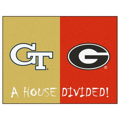 NCAA House Divided: Georgia Tech / Georgia House Divided Mat