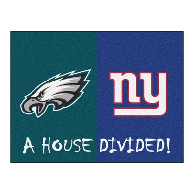 NFL House Divided - Eagles / Giants House Divided Mat