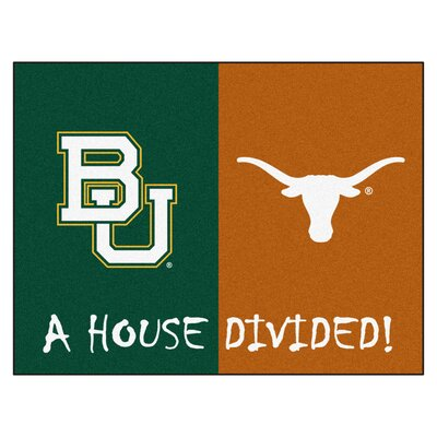 NCAA House Divided: Baylor - Texas House Divided Mat